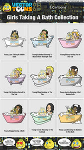 Girls Taking A Bath Collection