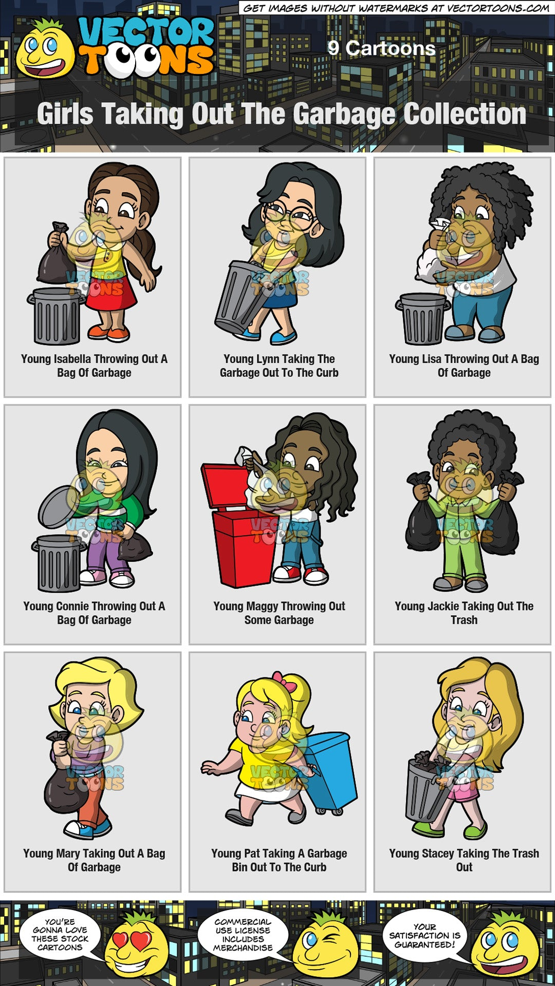 Girls Taking Out The Garbage Collection