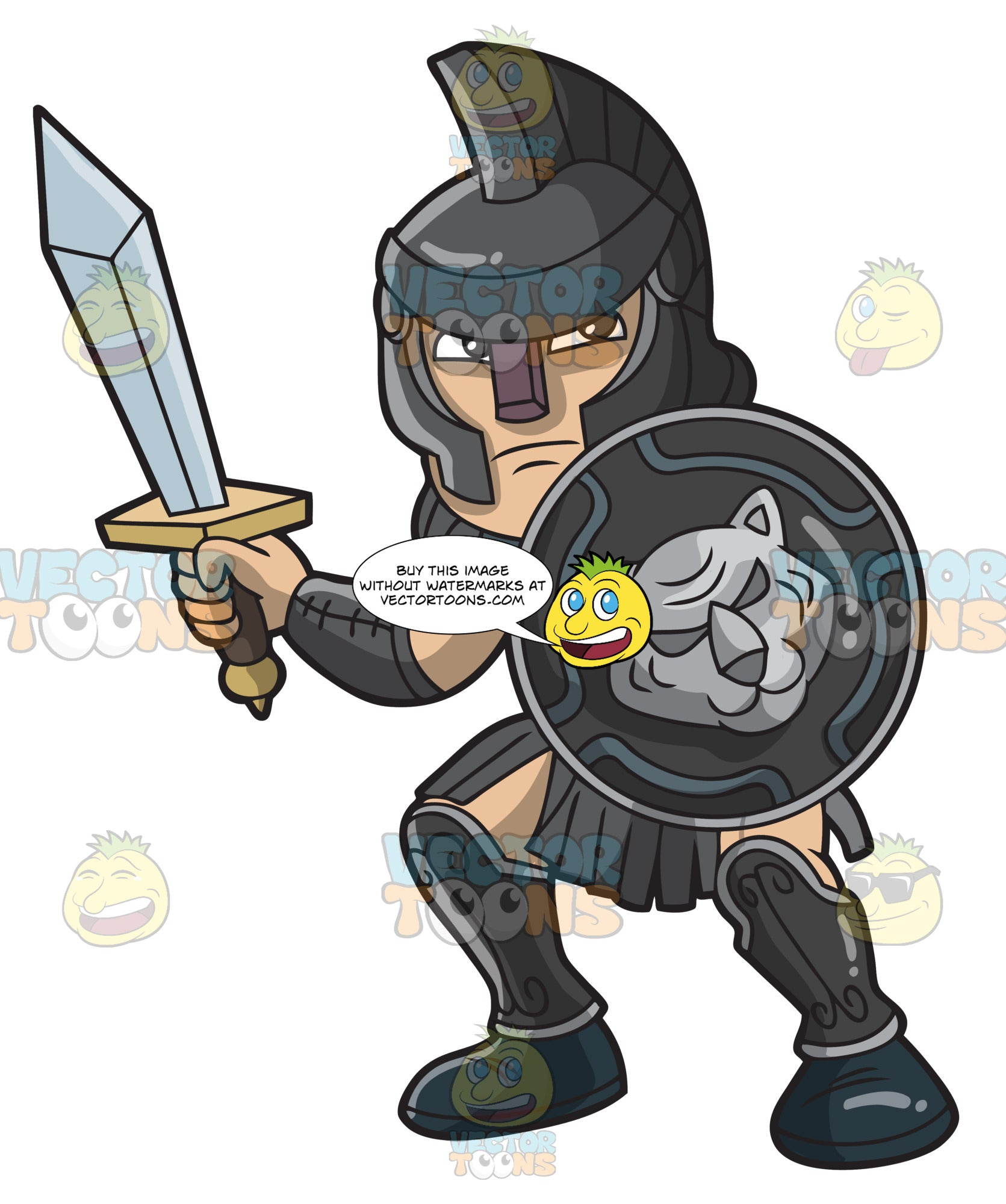 7c6cc5feebf A Wise And Strong Gladiator – Clipart Cartoons By VectorToons