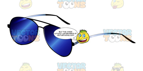 Aviator Style Pilot Glasses With Blue Tinted Lenses