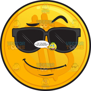 Cool Golden Coin Emoji