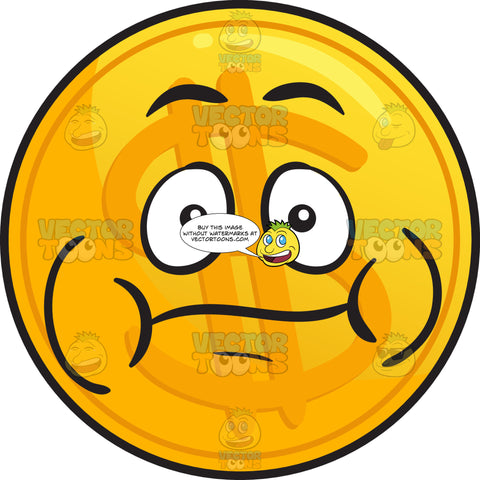 Bloated Golden Coin Emoji