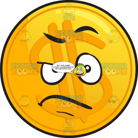 Angry Golden Coin Emoji
