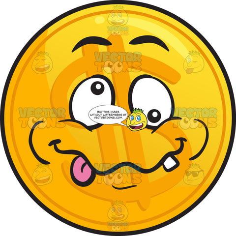 Crazy Golden Coin Emoji