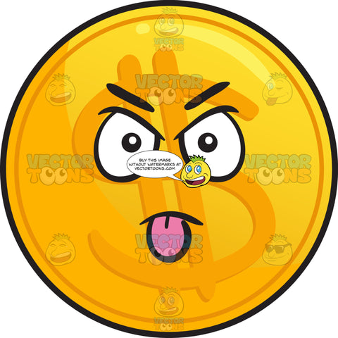 Intimidating Golden Coin Emoji