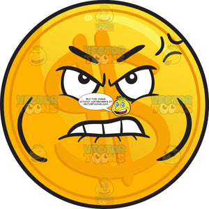 Distressed Golden Coin Emoji