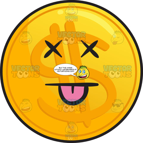Silly Golden Coin Emoji