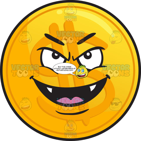 Vampire Golden Coin Emoji