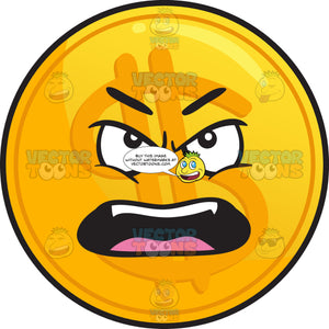 Outraged Golden Coin Emoji