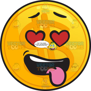 Love-Struck Golden Coin Emoji