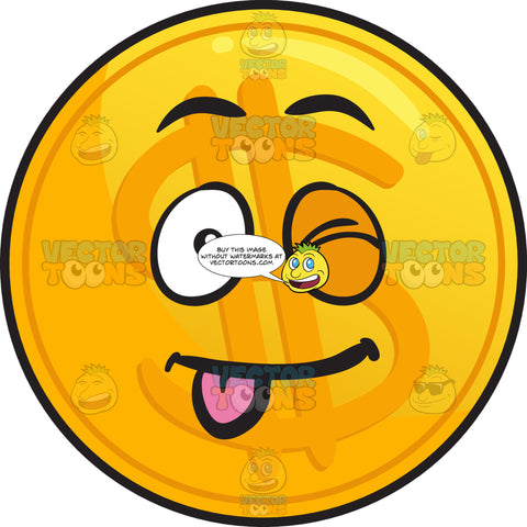 Teasing Clumsy Golden Coin Emoji