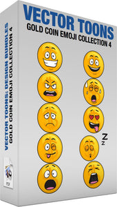 Gold Coin Emoji Collection 4