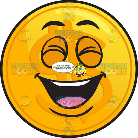 Laughing Golden Coin Emoji