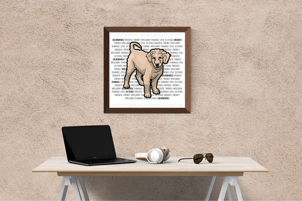 Goldendoodle Dog Printing / Embroidery Designs