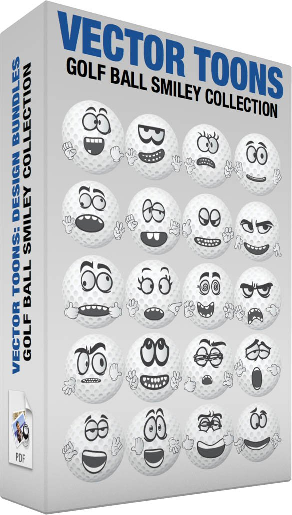 Golf Ball Smiley Collection