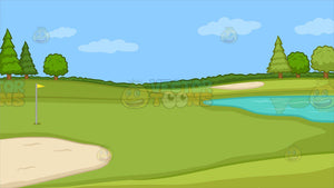 Golf Course Putting Green Background