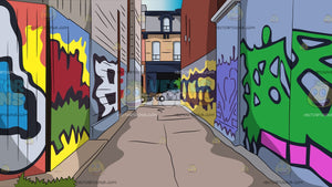 Graffiti Alley Background