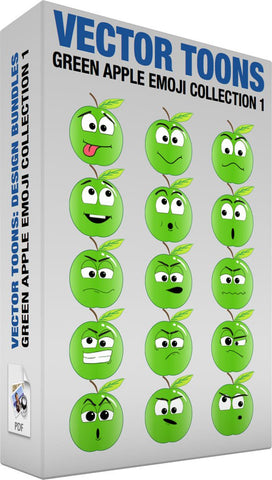 Green Apple Emoji Collection 1