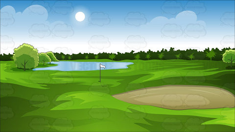Green Golf Course Background