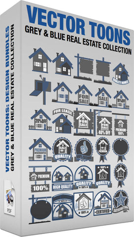 Grey And Blue Real Estate Collection