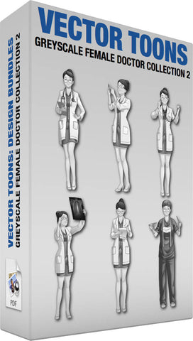 Greyscale Female Doctor Collection 2
