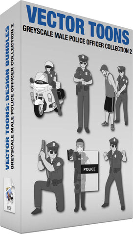 Greyscale Male Police Officer Collection 2