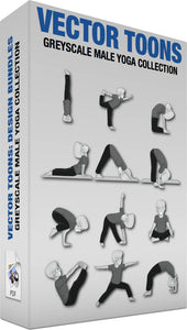 Greyscale Male Yoga Collection
