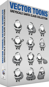 Greyscale Santa Claus Collection