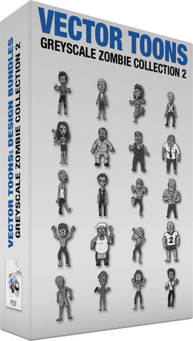 Greyscale Zombie Collection 2