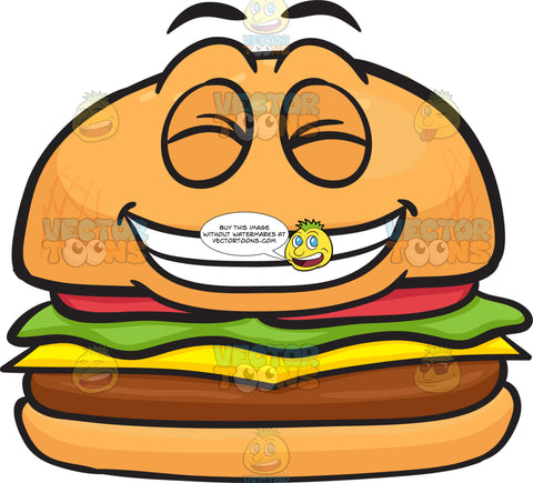 Grinning In Pleasure Cheeseburger