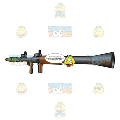 Rear Side View Image Of An Rpg 7 Rocket Launcher