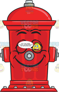 Happy And Contented Look On Fire Hydrant Emoji