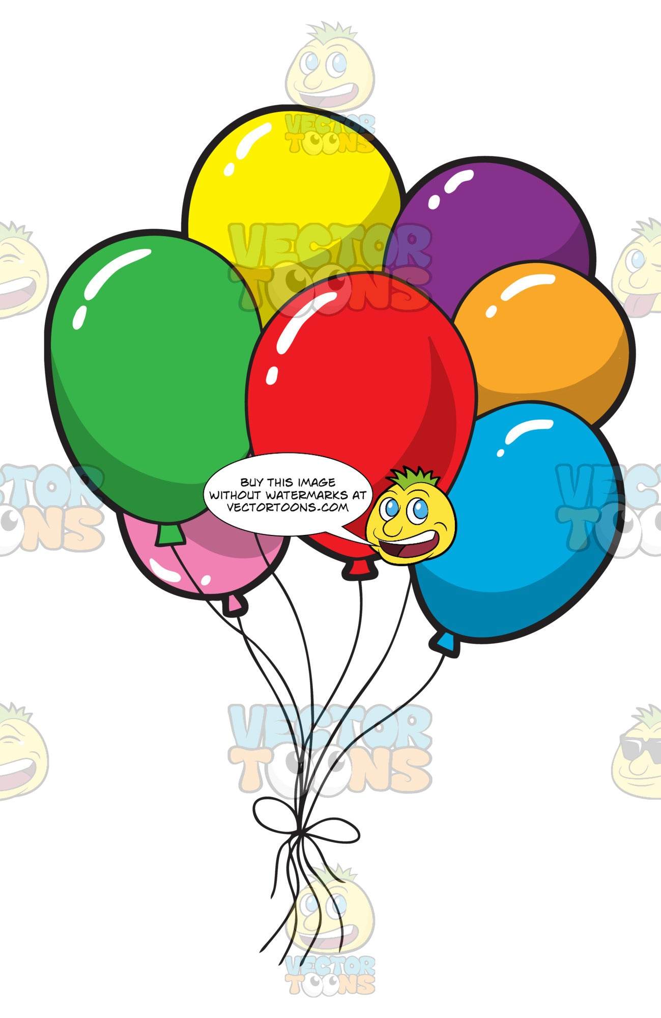 A Bunch Of Colorful Birthday Balloons Clipart Cartoons By VectorToons