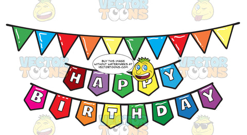 A Colorful Birthday Party Banner