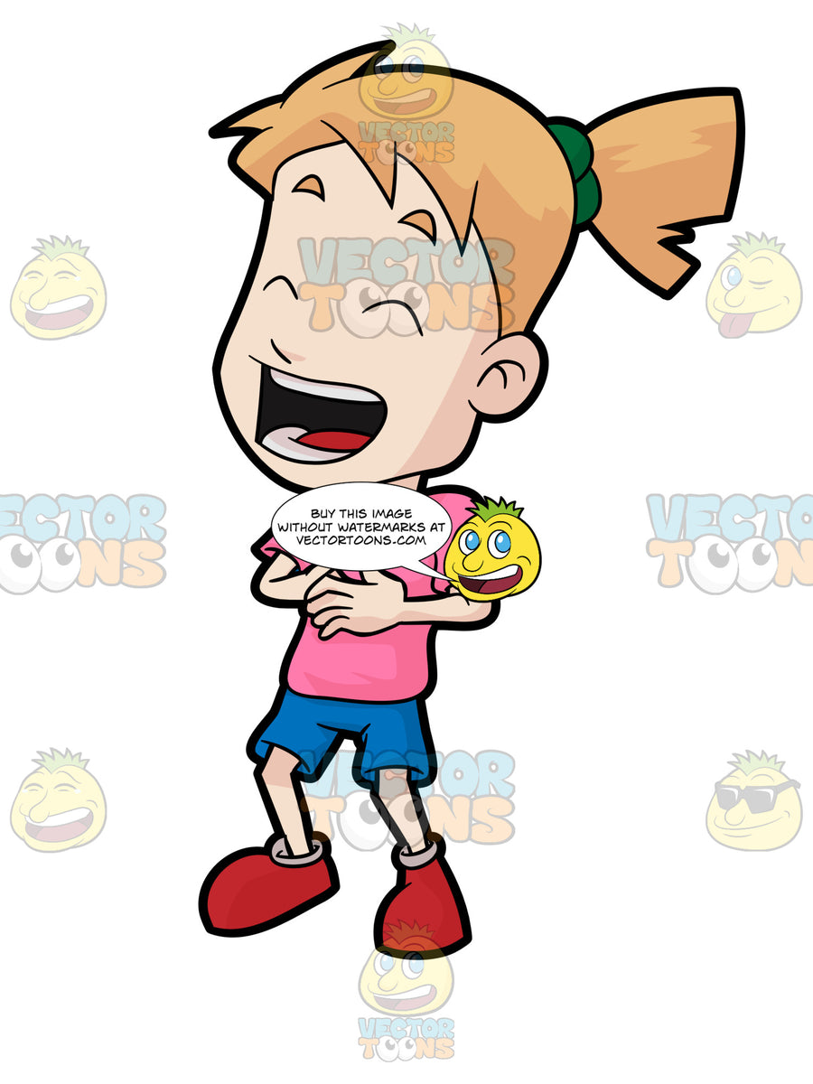 A Girl Laughing Hysterically – Clipart Cartoons By VectorToons