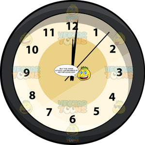 A Wall Clock With A Time Past Midnight