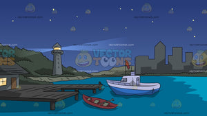 Harbor At Night Background