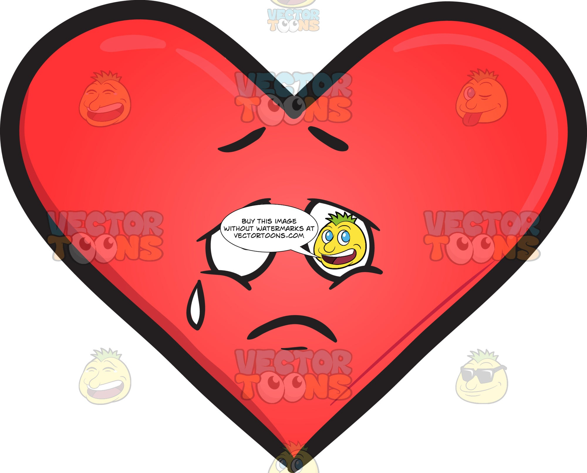 Heavy Hearted Emoji