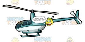 A Classic Civilian Helicopter. A helicopter with a smooth curved cockpit, rotor mast and blades, two landing skids, tail rotor, and painted in soft green and white
