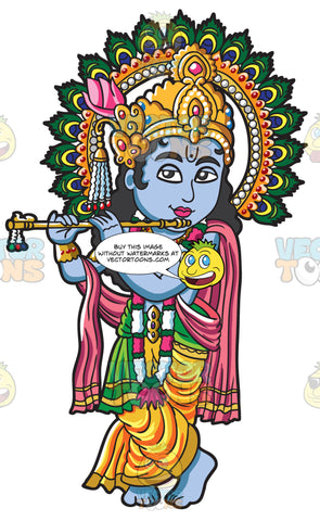 The Hindu Goddess Krishna