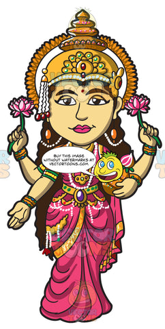 The Hindu Goddess Lakshmi