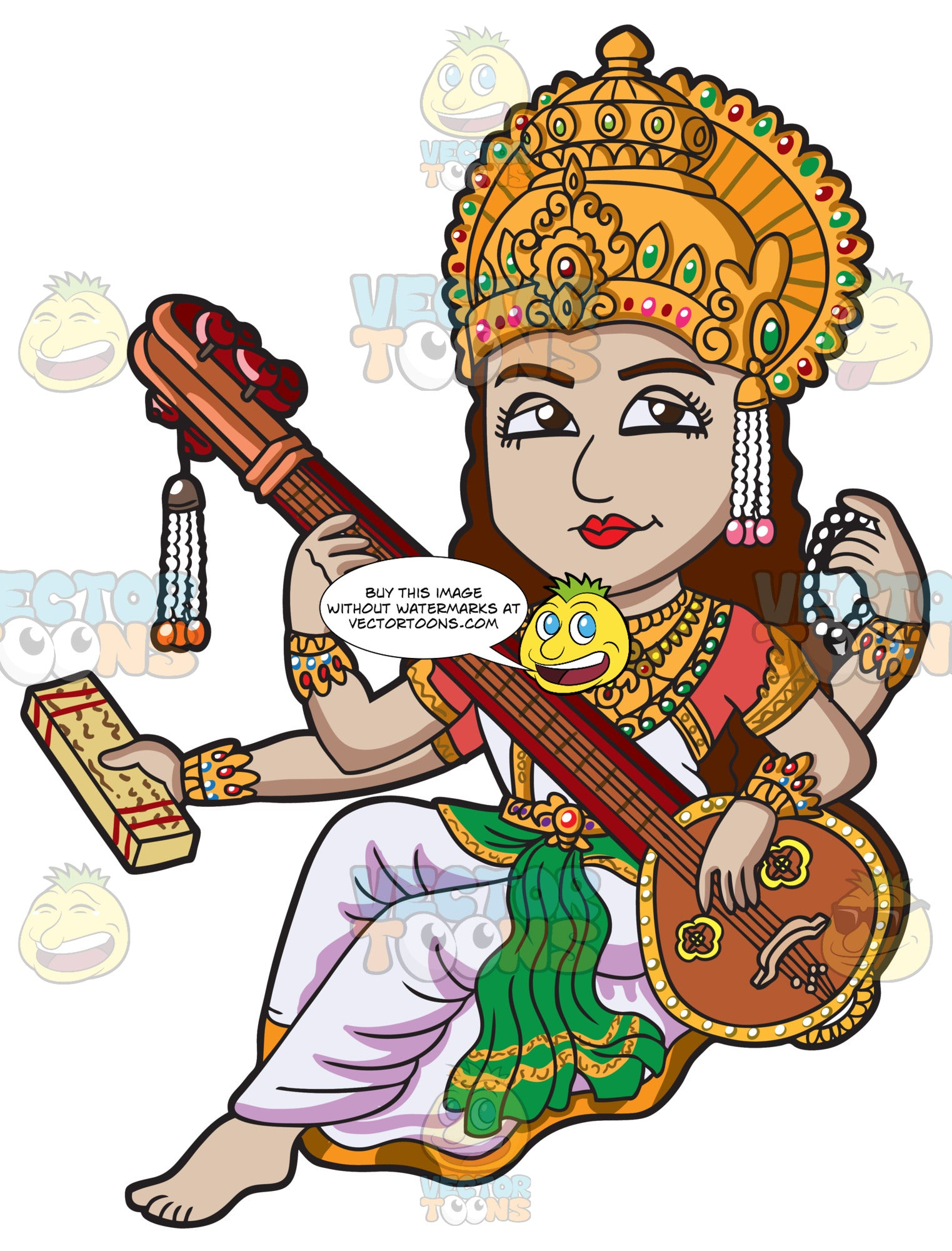 The Hindu Goddess Saraswati