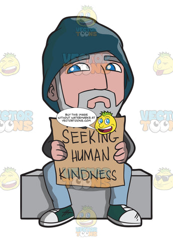 A Homeless Old Man Seeking Human Kindness
