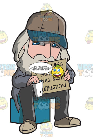 A Homeless Man Asking For A Donation