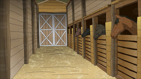 Horse Stables Background