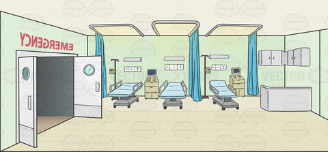 Hospital Emergency Room Background