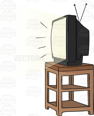 Television Sitting On Top Of A Stand