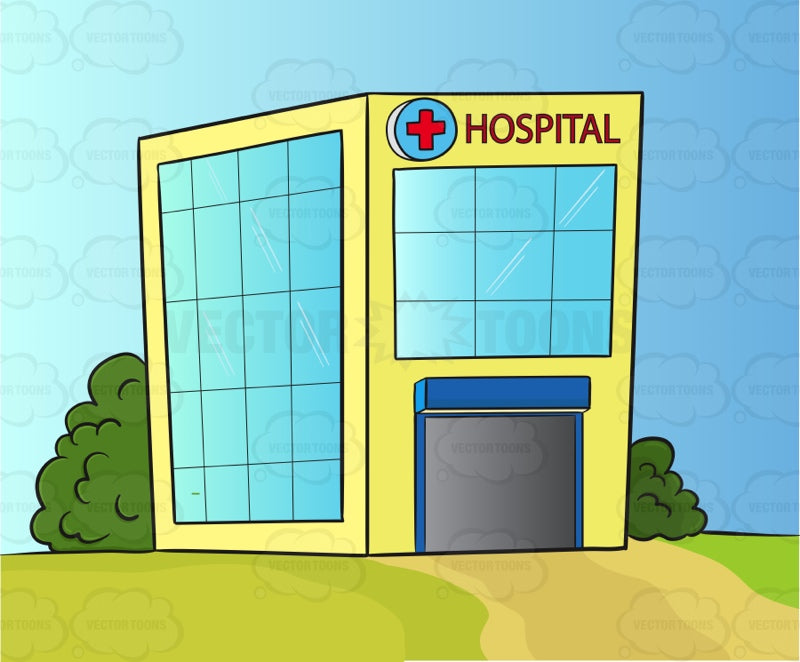Hospital With Large Windows