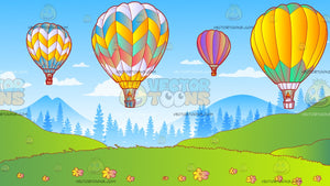 Hot Air Balloon Festival Background