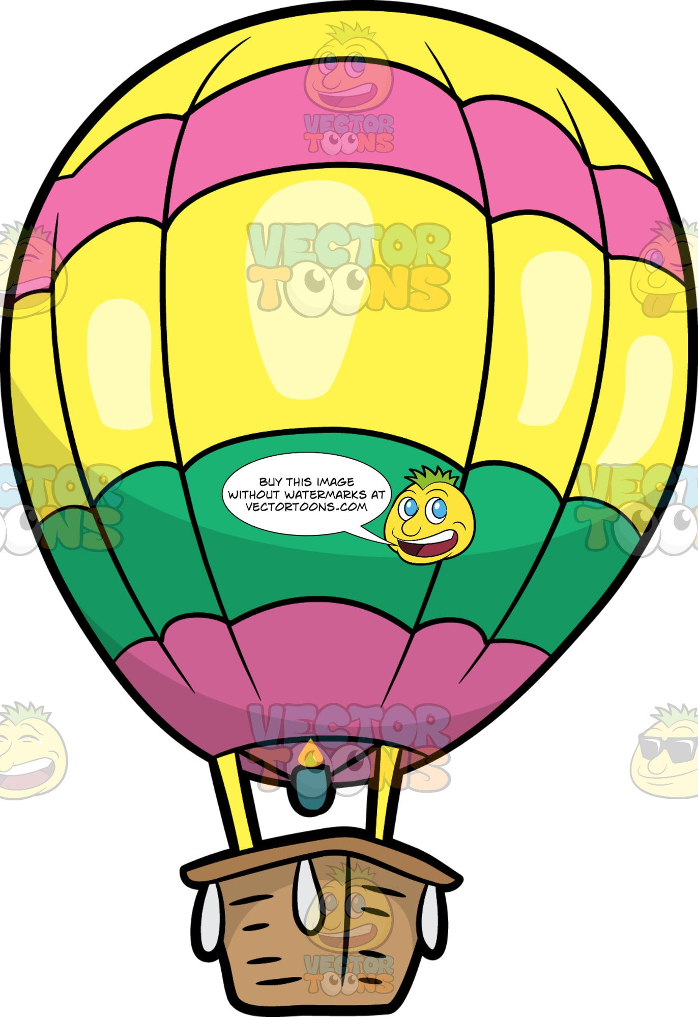 - A Colorful Hot Air Balloon – Clipart Cartoons By VectorToons